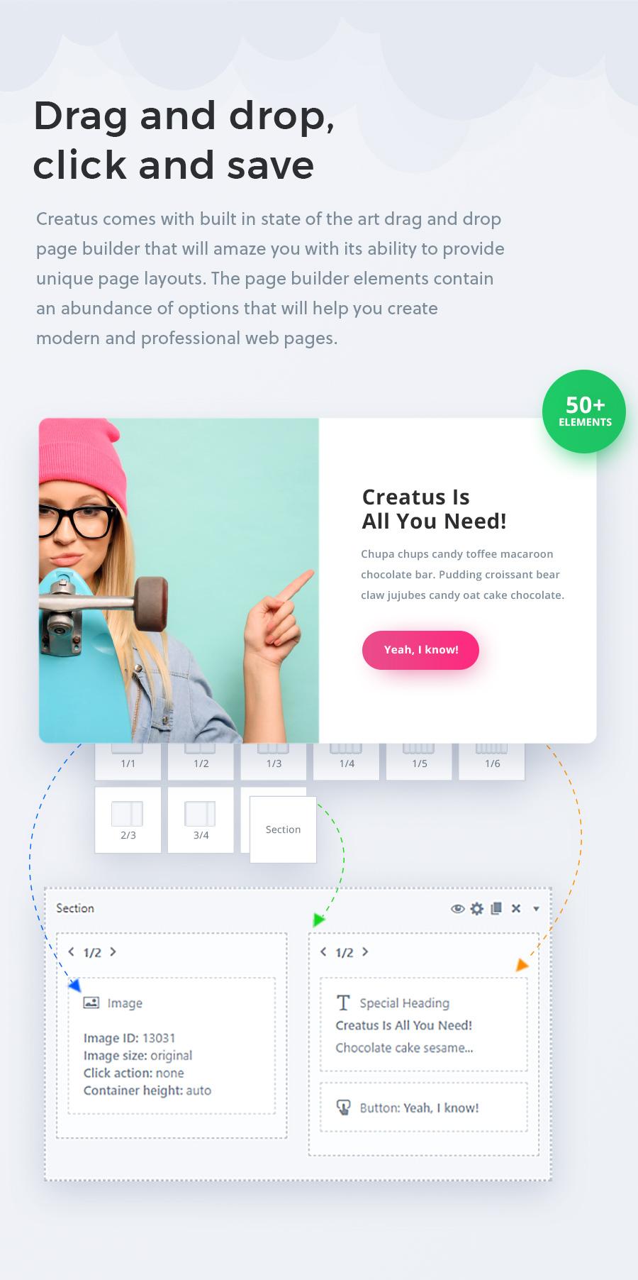 Creatus WordPress Theme Page Builder