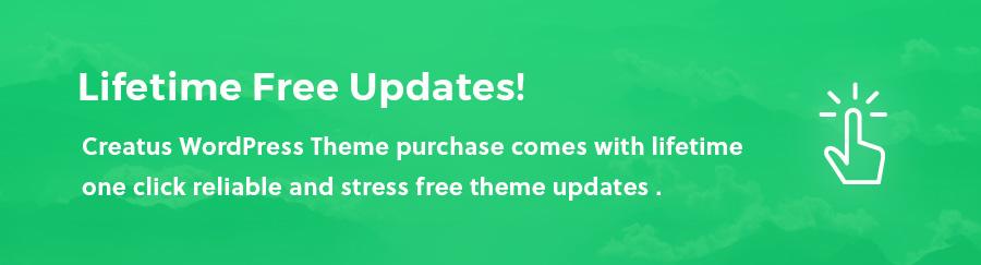 Get Lifetime Update with Creatus WordPress Theme Purchase
