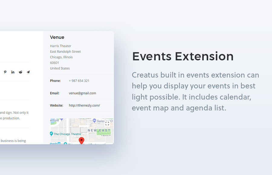 Creatus WordPress Theme Events Extension