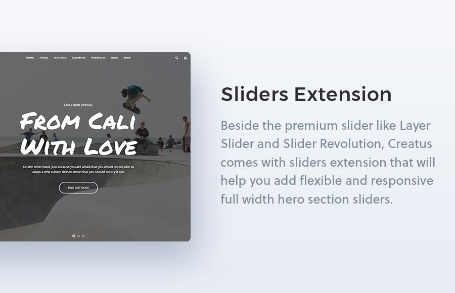 Creatus WordPress Theme Sliders Extension