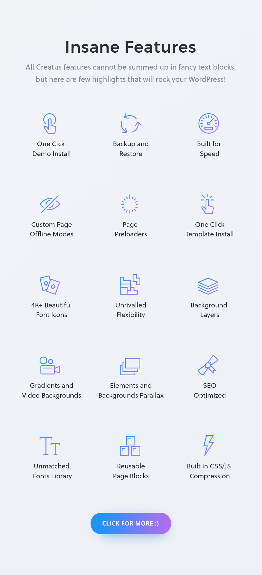 Creatus WordPress Theme Features
